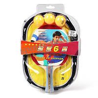 Набор для настольного тенниса/пинг-понга 729 Friendship 6210 (6*): ракетка+сумка+3 мячика