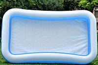 Бассейн надувной семейный Intex 58484, прямоугольный 305х183 см, 3 кольца, 999 л, 8,5 кг