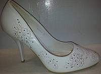 Туфли женские белые р37 CAMIDY 975-33 SADI