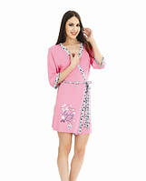 Розовый женский халат WILD LOVE