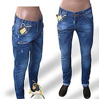 Джинсы мужские летние зауженные Slim OrJean светло-синего цвета.