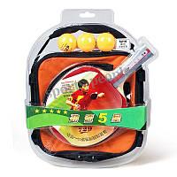 Набор для настольного тенниса/пинг-понга 729 Friendship 5210 (5*): ракетка+сумка+3 мячика