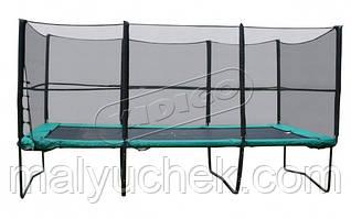 Прямоугольный батут KIDIGO™ 457х305 см. с защитной сеткой + лестница  BT457-305
