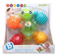 """Развивающая игрушка-конструктор для купания """"Черепашки"""" Sensory, Bkids"""