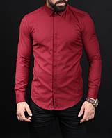 Стильная мужская рубашка красная