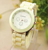 Женские часы силиконовые Geneva Luxury Citron лимонные, фото 1