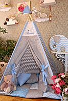 "Детский игровой домик, вигвам, палатка, шатер, шалаш,вігвам, дитяча ігрова палатка, будинок ""Серый звездопад"",, фото 1"