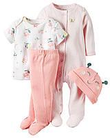 Подарочный комплект для девочки Carters Бабочка, Размер 9м, Размер 9м