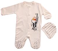 Человечек комбинезон для новорожденного Armani Boy (56, 62, 68 см)