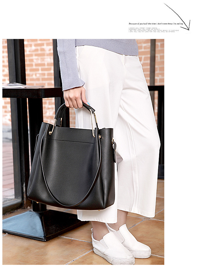 47ac1d8ed86f Черная женская сумка-шоппер B.Elit с отстёгивающимся кошельком, ...