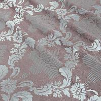 Ткань для штор жаккард Dim Out фрез/серый