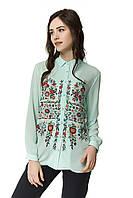 Шифоновая женская сорочка с цветочным принтом ТМ Nenka р.S,M,L