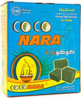 Уголь Кокосовый  Coconara 1 кг (96 Шт) - в упаковке.
