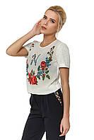 Женская модная футболка в украинском стиле ТМ Nenka p.M