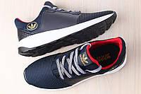 Мужские кроссовки, черные, из натуральной кожи