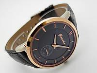 Часы мужские Guardo - Business,  Made in Italy, цвет золото и серебро, черный ремешок и циферблат