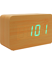 Часы   светодиодные от батареек под дерево 1295
