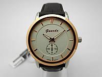Часы мужские Guardo - Business,  Made in Italy, цвет золото и серебро, белый циферблат