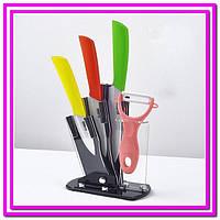 Керамические ножи на подставке 3шт.+овощечистка!Опт