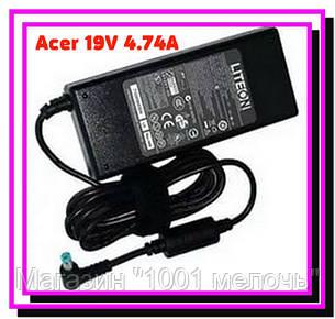 Блок питания для ноутбука Acer 19V 4.74A + КАБЕЛЬ!Лучший подарок, фото 2
