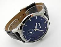Часы мужские Guardo - Business,  Made in Italy, цвет серебро, черный ремешок и циферблат
