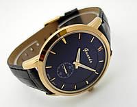 Часы мужские Guardo - Business,  Made in Italy, цвет золото, черный ремешок и циферблат