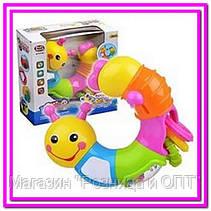 Веселая гусеница Limo Toy , подвижные детали, погремушка, трещотка, зеркало, в кор-ке!Опт, фото 3