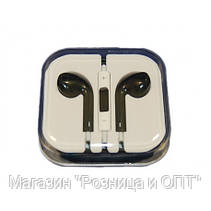 Наушники черные с микрофоном + пульт + коробка Apple!Опт, фото 3