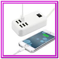 Адаптер питания - зарядное устройство на 6-портов USB!Опт