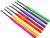 Крючки для вязания (140mm) с пластиковой ручкой, набор ассорти