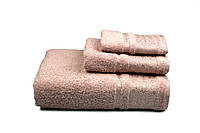 Махровое полотенце с жаккардовым утонченным бордюром Бамбук.