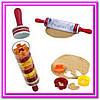 Скалка для раскатки теста с формочками для фигурного печенья Roll and Store Pin!Опт, фото 3
