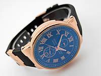Женские часы  Ulysse Nardin - LeLocle -  на черном каучуковом ремешке, цвет золото, черный циферблат