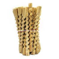 Бигуди-коклюшки спиральные деревянные длинные для химической завивки (25 шт/комплект)