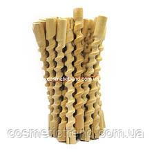 Бігуді-спіральні коклюшки довгі дерев'яні для хімічної завивки (25 шт/комплект)