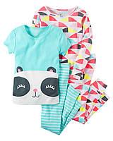 Комплект детских пижам для девочки Carters Панда