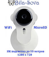 IP-видеокамера WiFi SSV-900, 1280х720, f=3.6мм., ИК до 10м., слот под MicroSD, Tesla