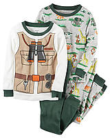 Комплект детских пижам для мальчика Carters Сафари