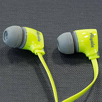 Гарнитура AIYALE A52 (Зеленый) наушники ваккумные с микрофоном для самсунга айфона 3,5 iphone samsung