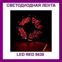 Лента светодиодная красная LED 5630 Red - 5 метров в силиконе!!Опт