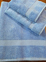 Полотенце махровое 50х90 см лицевое, 100% хлопок (Азербайджан)