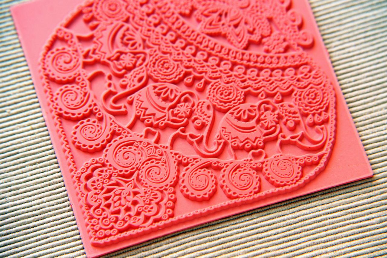 Килимок текстурний Індійські Слони, з красивою глибокої текстурою