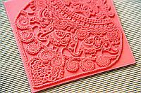 Коврик текстурный Индийские Слоны, с красивой глубокой текстурой,реплика из силикона