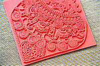 Коврик текстурный Индийские Слоны, с красивой глубокой текстурой