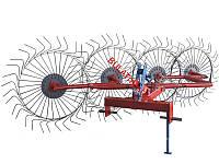 Грабли-ворошилки Булат 5-ти колесные Украина-Польша (Солнышко) толщина граблины 6,0 мм для минитрактора