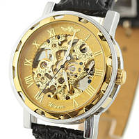 Часы мужские наручные Winner Skeleton gold