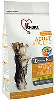 1st Choice Adult Dog Toy & Small Breeds с курицей, 350 гр