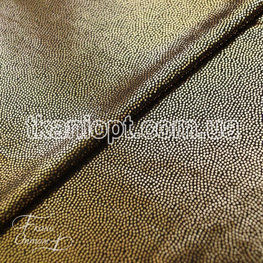 Ткань Лазер (золото на черном)
