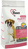 1st Choice Puppy All Breeds с ягненком и рыбой, 14 кг