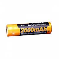 Аккумулятор 18650 Fenix ARB-L182600U (2600 mAh)